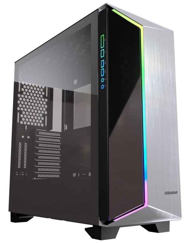 Cougar Dark Blader G Premium Mid Tower Gaming Case Brushed Aluminium & Glass Front Pannel with RGB and Glass side window