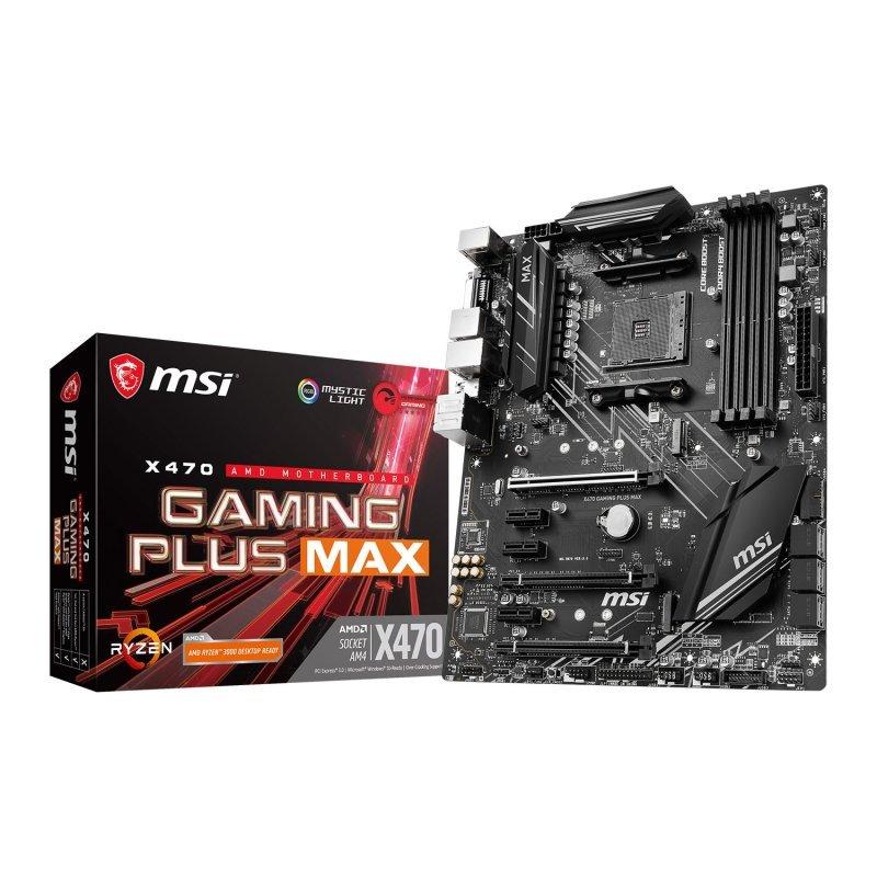 MSI X470 GAMING PLUS MAX AM4 DDR4 ATX Motherboard