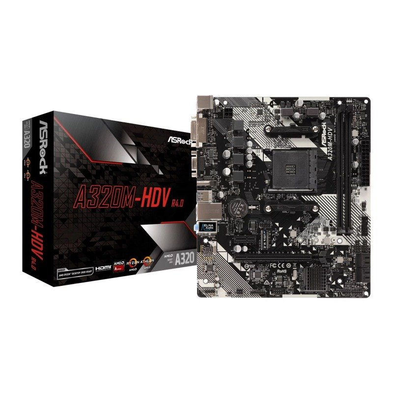 Image of ASRock A320M-HDV socket AM4 DDR4 MicroATX Motherboard