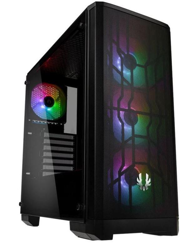 Image of BitFenix Nova Mesh A-RGB Midi-Tower Case - Black Window