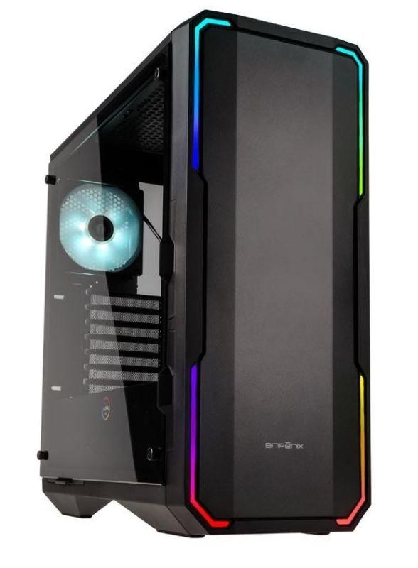 Bitfenix Enso Midi Tower RGB Gaming Case - Black Tempered Glass