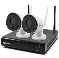 Swann 2 Camera 4 Channel 1080p Wi-Fi NVR Security System with 16GB Micro SD Card