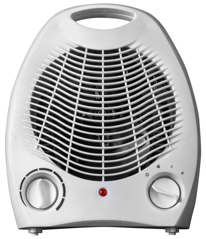 Image of 1000/2000W Fan Heater Overheat Protection White