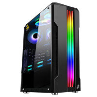 1St Player Rainbow R3-A Black Mini Tower with 3 Fans