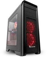EXDISPLAY PC Specialist Vanquish Vertex Pro 1080 Gaming PC AMD Ryzen 7 2700X Eight Core CPU 16GB DDR4 3TB HDD 240GB SSD No-DVD NVIDIA GTX 1080 8GB WIFI Windows 10 Home (64-bit)