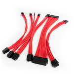 Premium Braided 30cm PSU Exention Cable Kit - Red