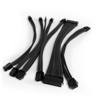 Premium Braided 30cm PSU Extension Cable Kit - Black
