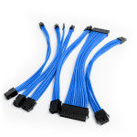 Xenta Premium Braided PSU Extension Cable Kit - Blue