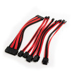 Premium Braided PSU Extension Cable Kit - Red & Black