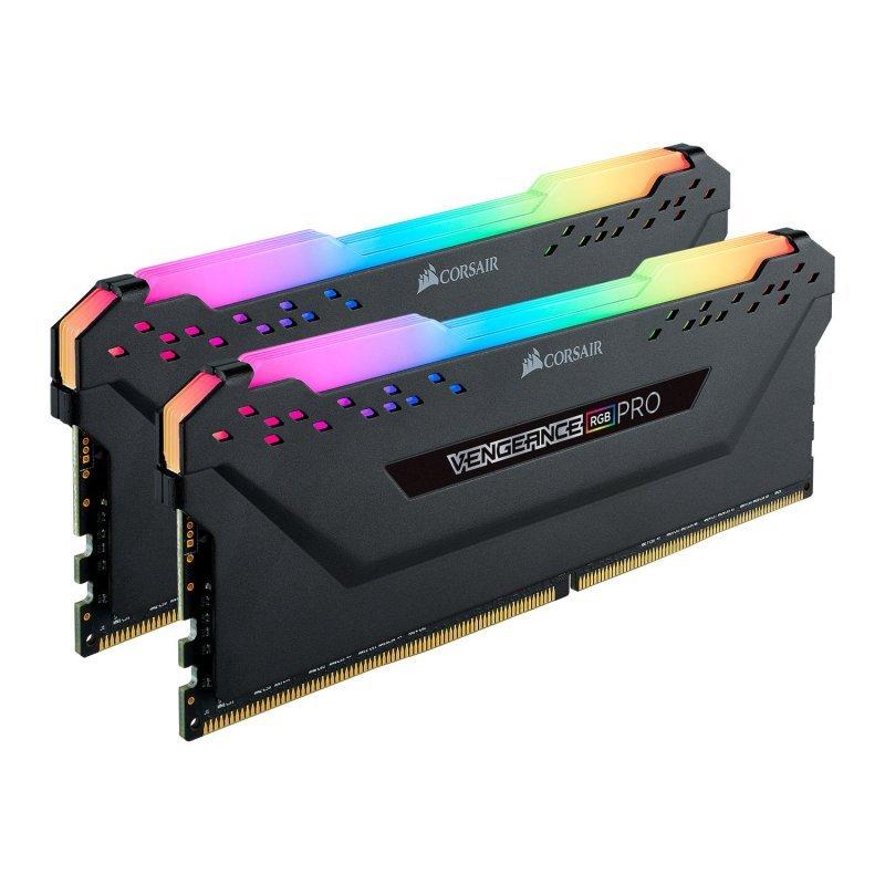 Corsair Vengeance RGB PRO Black 16GB 3600 MHz AMD Ryzen Tuned DDR4 Memory Kit