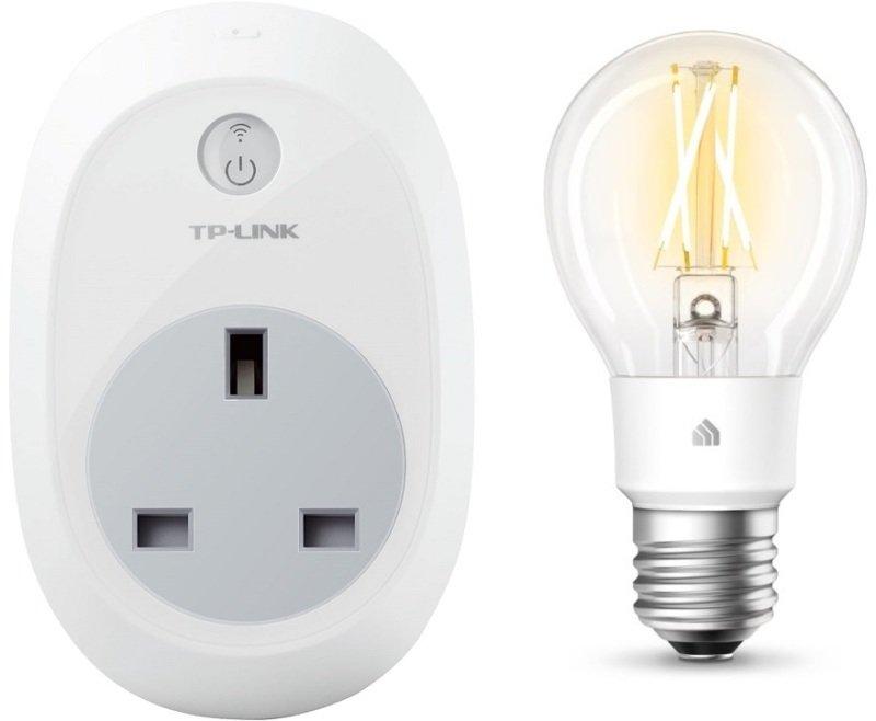TP-Link HS100 Smart Plug and Kasa KL50 Smart Bulb Bundle - Works with Google Home and Alexa