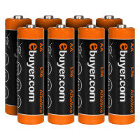 Ebuyer 8PK AA Batteries 1.5V Ecototal Alkaline Power Plus