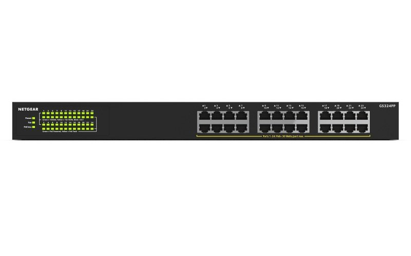 NETGEAR GS324PP 24 Ports Gigabit Ethernet Unmanaged Switch