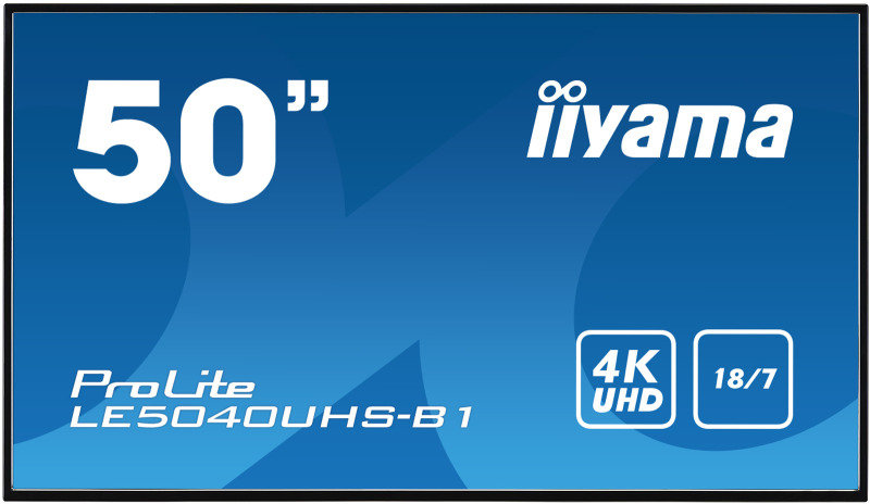 Iiyama Prolite Le5040uhs B1 50 4k Uhd Large Format Display Ebuyer Com
