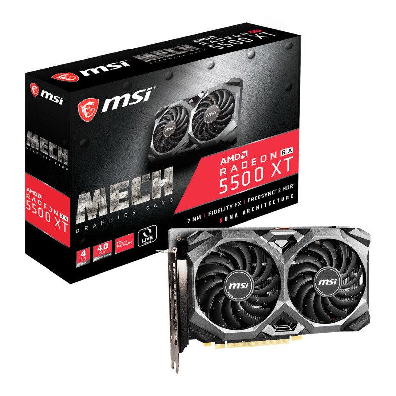 MSI Radeon RX 5500 XT MECH 4GB OC Graphics Card