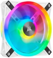 CORSAIR QL Series, iCUE QL120 RGB, 120mm RGB LED PWM White Fan, Single Fan