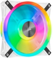 CORSAIR QL Series, iCUE QL140 RGB, 140mm RGB LED PWM White Fan, Single Fan