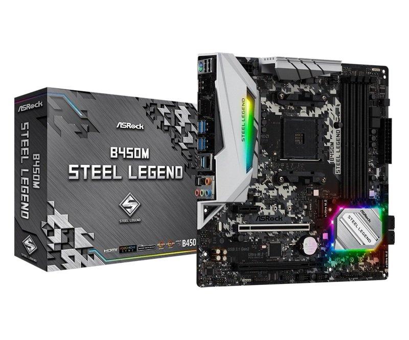 EXDISPLAY ASRock B450M Steel Legend AM4 DDR4 mATX Motherboard
