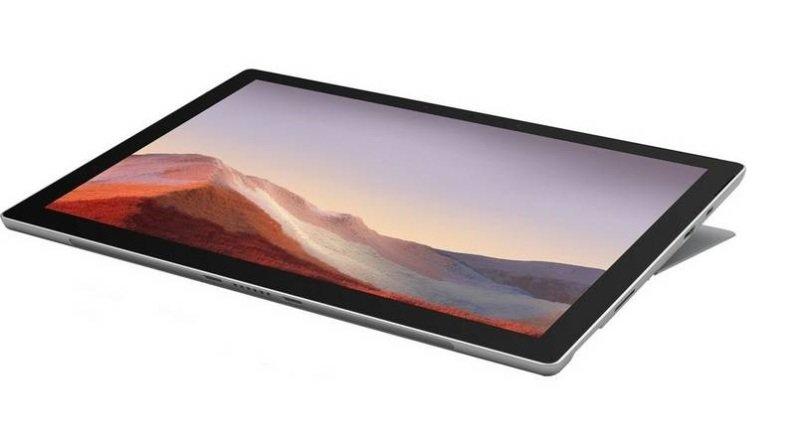 "Image of Microsoft Surface Pro 7 Core i3 4GB 128GB SSD 12.3"" Windows 10 Pro - Platinum"