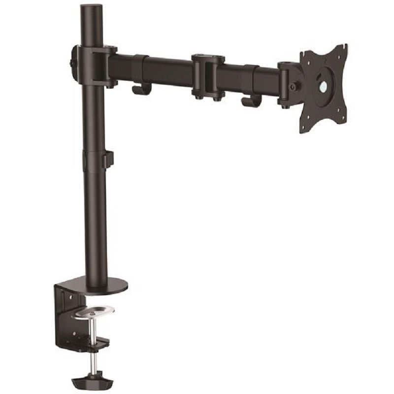 Single Desk-Mount Monitor Arm - Articulating - Heavy Duty Steel