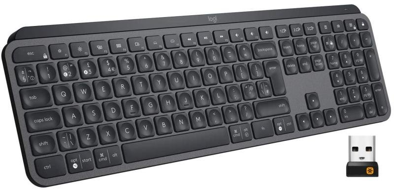 Image of Logitech MX Keys Advanced Wireless Keyboard - Graphite