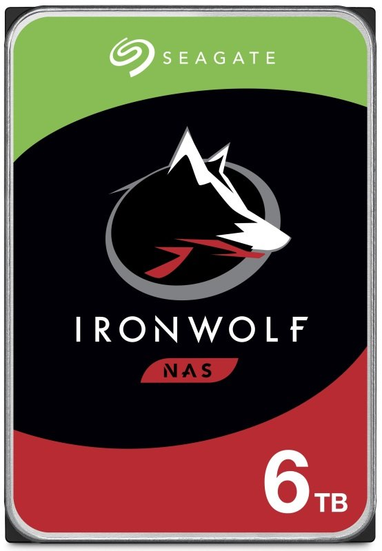 """Image of Seagate IronWolf 6TB NAS Hard Drive 3.5"""" 5400RPM 256MB Cache"""