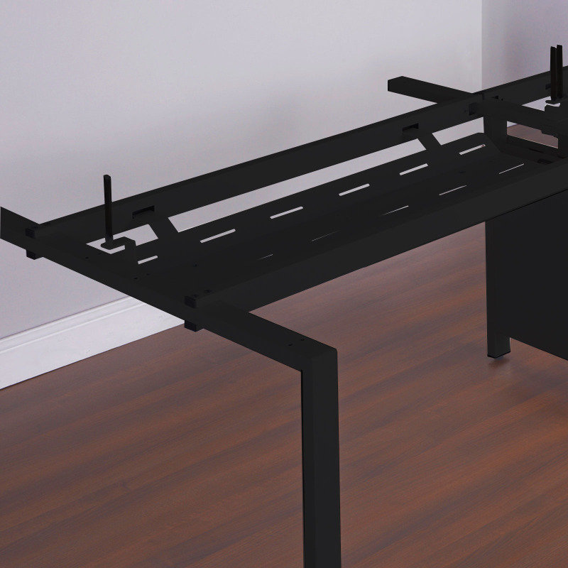 Double Drop Down Cable Tray & Bracket For Adapt And Fuze Desks 1400mm - Black