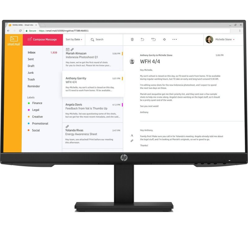 Image of HP P24h G4 23.8'' Full HD LED Monitor