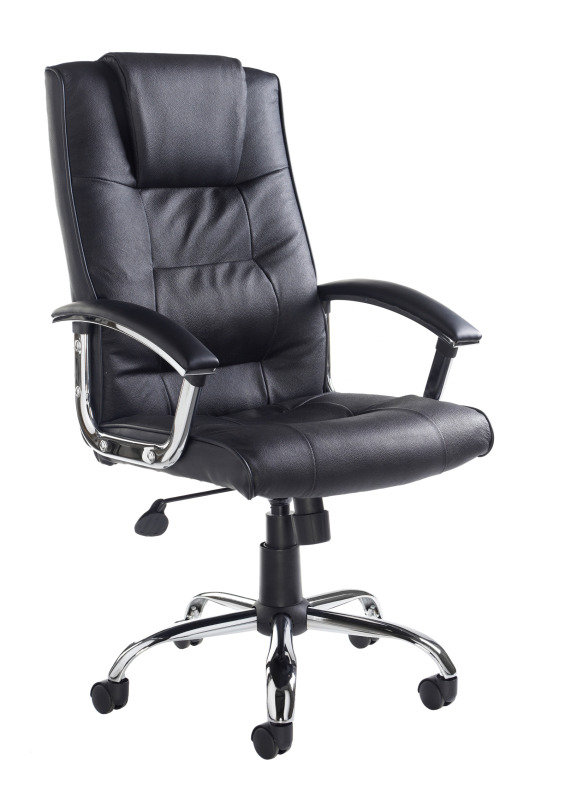 Leather Faced High Back Executive Chair