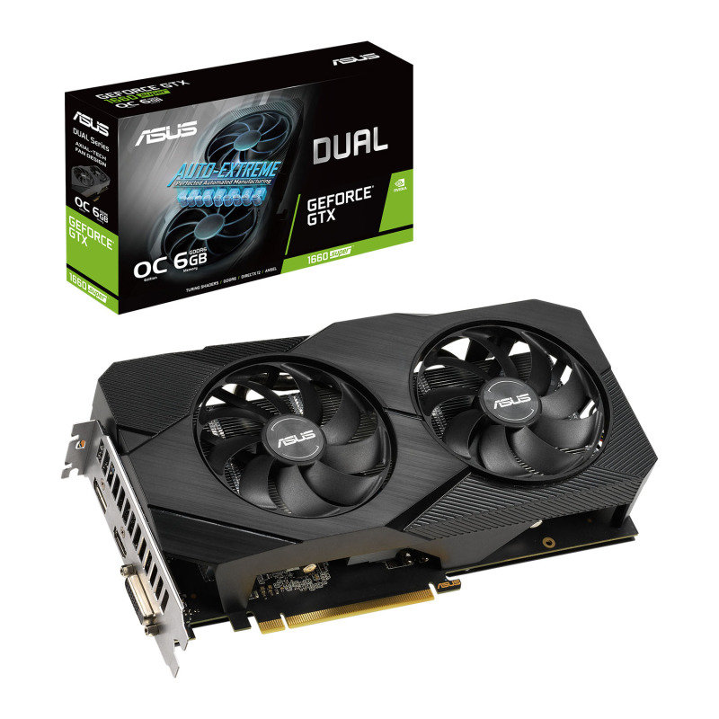 ASUS GeForce GTX 1660 SUPER DUAL EVO 6GB OC Graphics Card