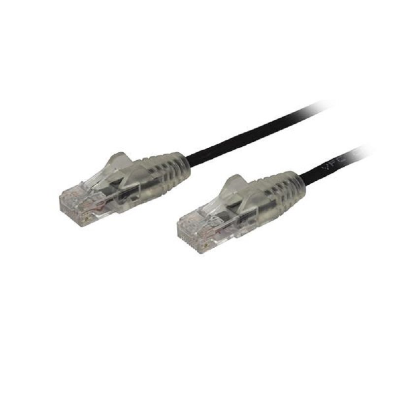 StarTech Slim CAT6 2.5 m Black Patch Cord Cable