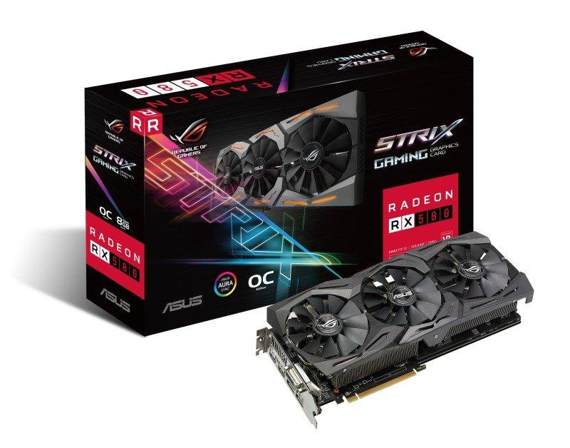 EXDISPLAY Asus Radeon RX 580 ROG STRIX OC 8GB Graphics Card
