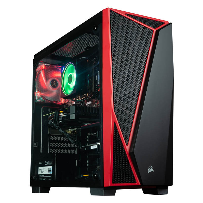 Image of AlphaSync Gaming Desktop PC, AMD Ryzen 7 2700X, 16GB DDR4, 1TB HDD, 240GB SSD, NVIDIA GTX 1660 Super, WIFI, Windows 10 Home