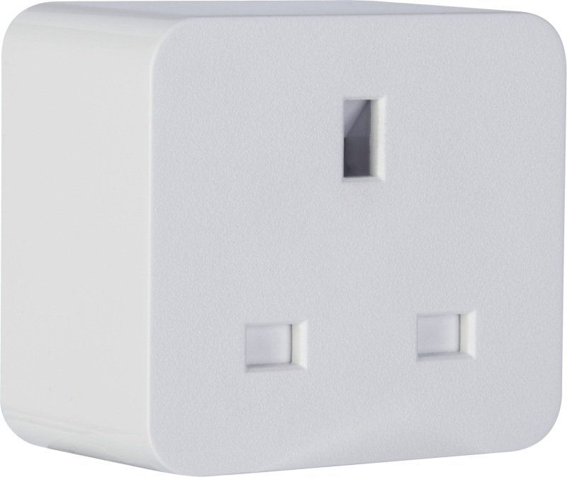 TCP Wifi Smart Plug - Single Socket White - Works with Alexa and Google Assistant