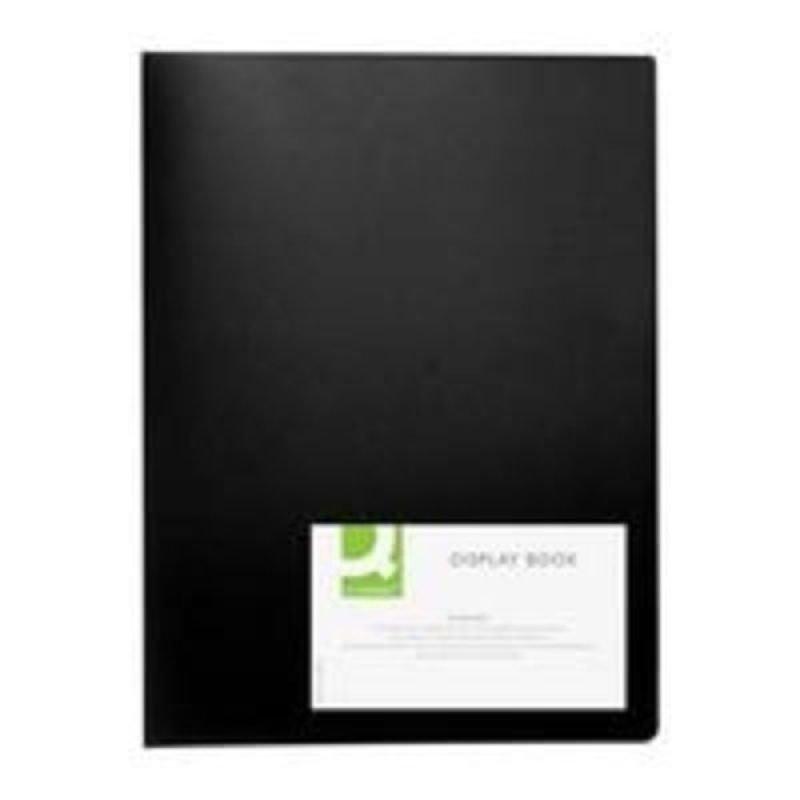Q CONNECT DISPLAY BOOK 40POCKET BLACK