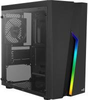 AEROCOOL BOLT TEMPERED GLASS MINI TOWER CASE - BLACK
