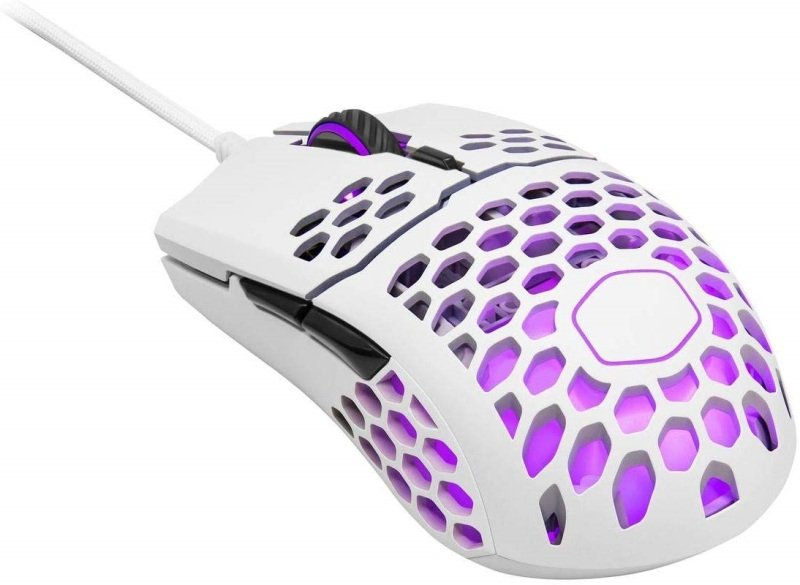 Image of Cooler Master MM711 USB RGB LED Matte White Gaming Mouse