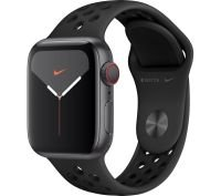 Apple Watch Series 5 GPS + Cellular, 40mm Space Grey Aluminium with Anthracite & Black Nike Sports Band