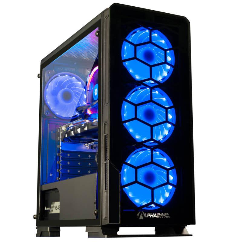AlphaSync Gaming Ryzen 5 8GB RAM 1TB HDD 240GB SSD GTX 1060 Desktop PC