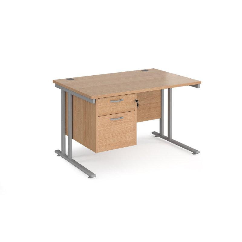 Maestro 25 Straight Desk 1200mm x 800mm With 2 Drawer Pedestal
