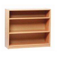 Open Bookcase 18mm FSC Certified Beech MFC - 2 Adjustable Shelves