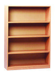 Open Bookcase 18mm FSC Certified Beech MFC - 1 Fixed And 2 Adjustable Shelves