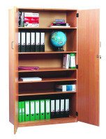 Stock Cupboard 18mm FSC Certified Beech MFC - 1 Fixed And 4 Adjustable Shelves/Lockable Doors & Handles