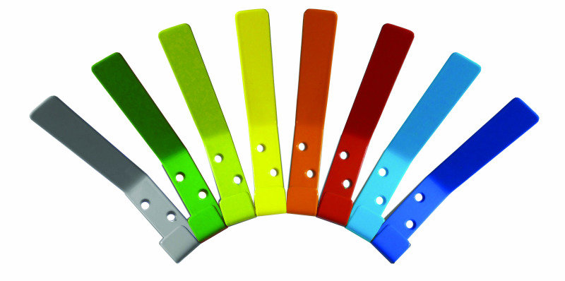 Pack Of 10 Loose Cloakroom Hooks (Can Be Supplied Multi-Coloured Or As One Solid-Colour)