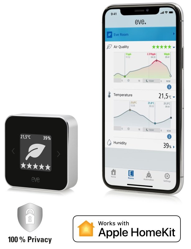 Eve Room - Indoor Air Quality Monitor - Works With Apple Homekit