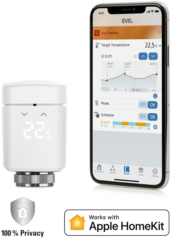 Eve Thermo - Smart Radiator Valve - Works With Apple Homekit