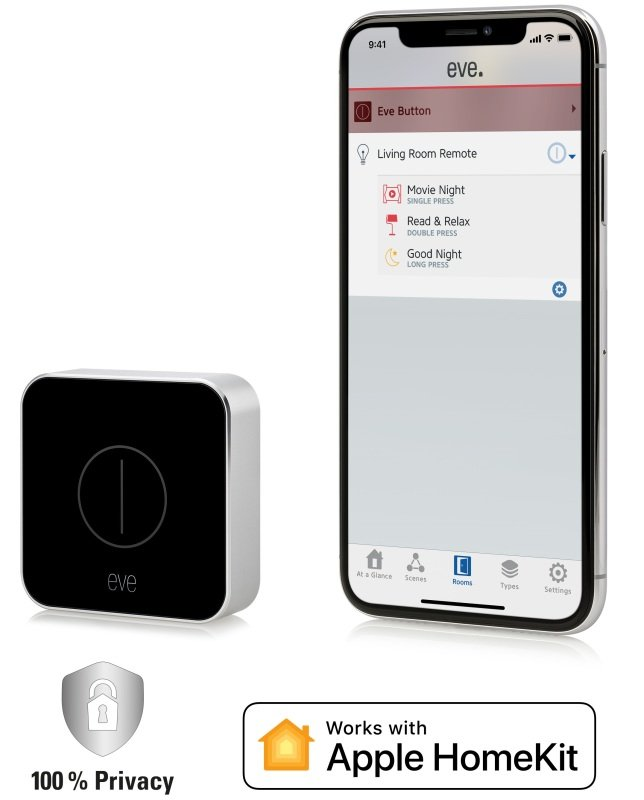 Image of Eve Button - Connected Home Remote - Works With Apple Homekit