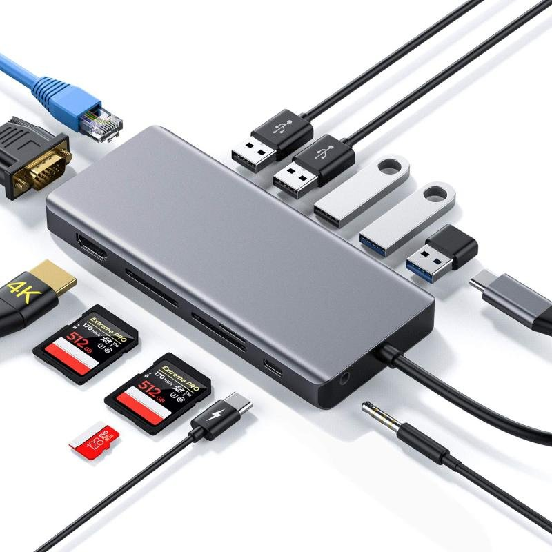 USB Type-C 13-in-1 Multiport Adapter Hub