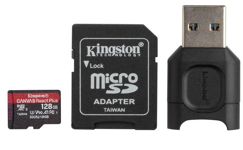Kingston Canvas React Plus 128GB + Adapter