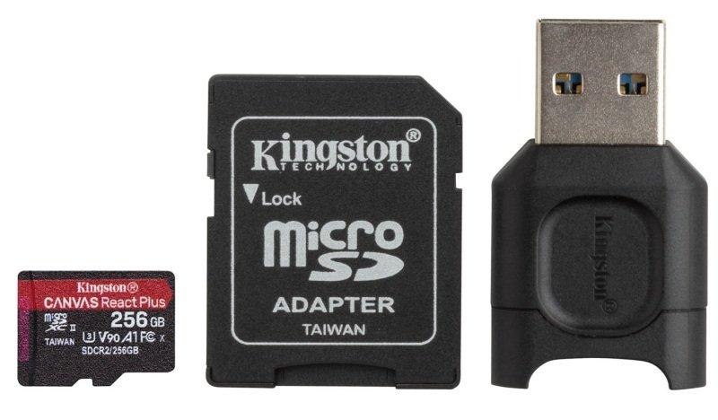 Kingston Canvas React Plus 256GB + Adapter